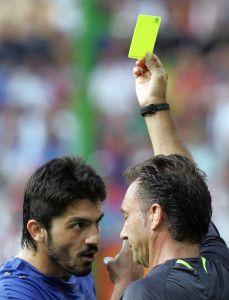 Referee Luis Medina Cantalejo of Spain (